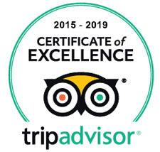 Kardamo restaurant TripAdvisor 2015 - 2019 excellence certificate